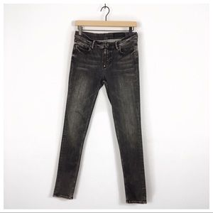 All Saints Track Fit Washed Black Skinny Jeans